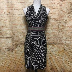 White House Black Market V-Neck Midi Dress